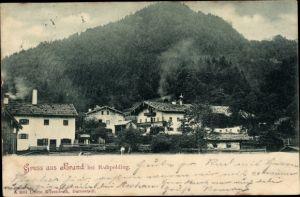 Ak Brand in Oberbayern, Teilansicht, Blick auf den Berg