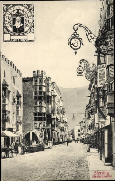Ak Sterzing Vipiteno Südtirol, Straßenpartie, Turnverein Sterzing, Turnvater Jahn