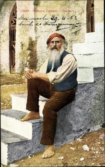 Ak Capri Neapel Campania, Costume Caprese Spadaro, Portrait