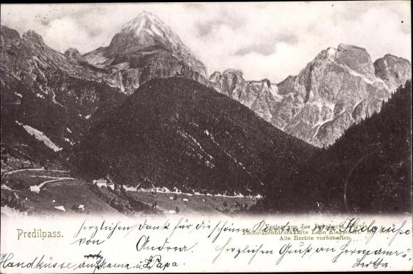 Ak Friuli Venezia Giulia, Predilpass, Alpenpanorama