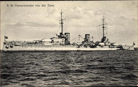 Ak Deutsches Kriegsschiff, SM Panzerkreuzer von der Tann, Kaiserliche Marine