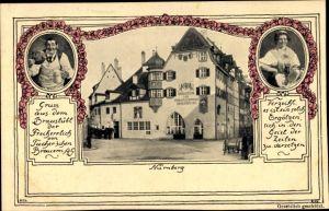 Ak Nürnberg in Mittelfranken, Bräustübl, Brauerei Tucher