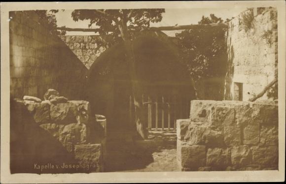 Foto Ak Nablus Palästina, Kapelle vom Josephsgrab