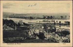 Ak Oppenheim am Oberrhein, Totalansicht von der Stadt