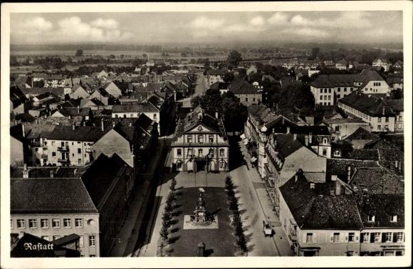 Ak Rastatt im Schwarzwald, Teilansicht der Stadt