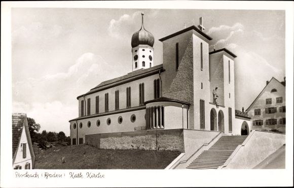 Ak Stockach im Hegau, Katholische Kirche