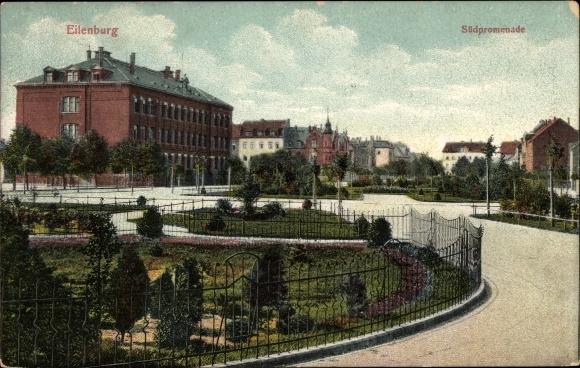 Ak Eilenburg an der Mulde Sachsen, Südpromenade