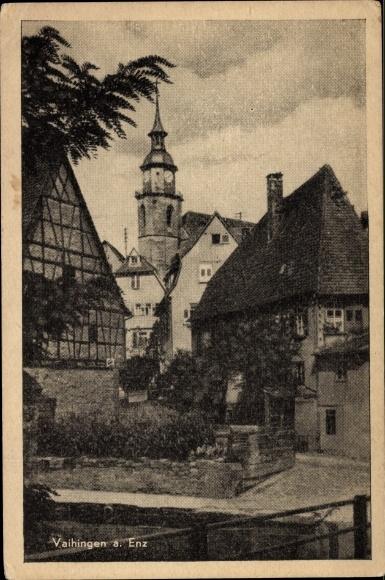 Ak Vaihingen Baden Württemberg, Stadtkirche