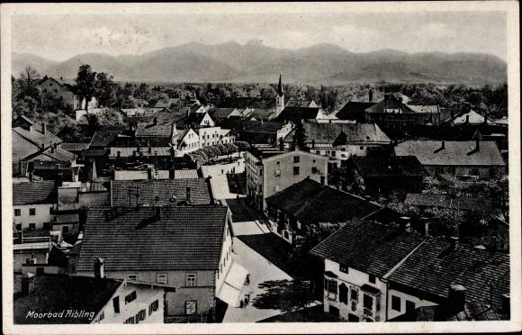 Ak Bad Aibling in Oberbayern, Blick über die Dächer der Stadt