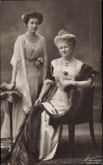 Ak Kaiserin Auguste Viktoria, Prinzessin Victoria Luise von Preußen, Portrait, NPG