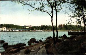 Ak Vaasa Vasa Westfinnland, Uferblick, Ortschaft