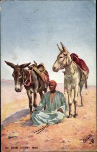 Künstler Ak An Arab Donkey Boy, desert, Tuck 7440