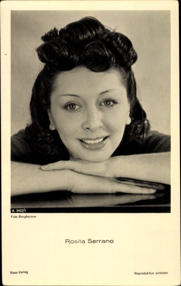 Ak Sängerin und Schauspielerin Rosita Serrano, Portrait