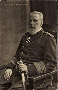 Ak Admiral Eduard von Knorr, Portrait