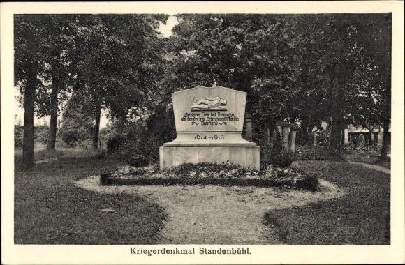 Ak Standenbühl in Rheinland Pfalz, Kriegerdenkmal