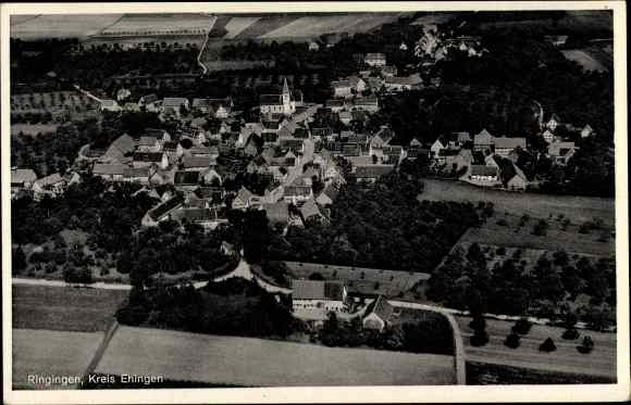 Ak Ringingen Burladingen Baden Württemberg, Panorama vom Ort