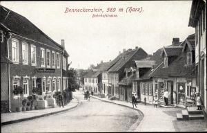 Ak Benneckenstein Oberharz am Brocken, Bahnhofstraße, Hotel Herzog