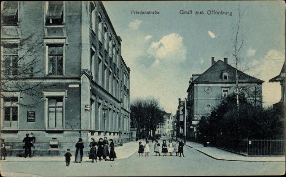 Ak Offenburg am Schwarzwald, Friedenstraße