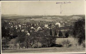 Foto Ak Oberschützen im Burgenland, Panoramaansicht von Ortschaft