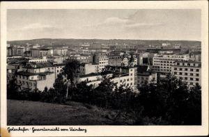 Ak Gdynia Gotenhafen Pommern, Gesamtansicht vom Steinberg