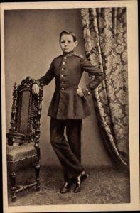 Ak Generalfeldmarschall Paul von Hindenburg als Kadett in Wahlstatt, 1860, Portrait