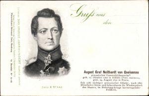 Ak August Graf Neithard von Gneisenau, preußischer Generalfeldmarschall, Portrait, Befreiungskrieg