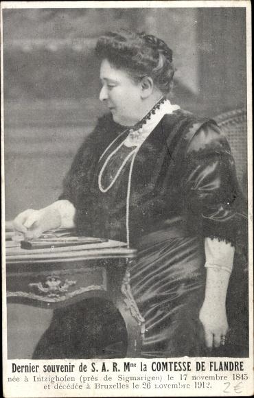 Ak Prinzessin Maria Luise von Hohenzollern Sigmaringen, Comtesse de Flandre, Prinzessin von Belgien