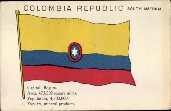 Ak Kolumbien, Handelsflagge, Bogota