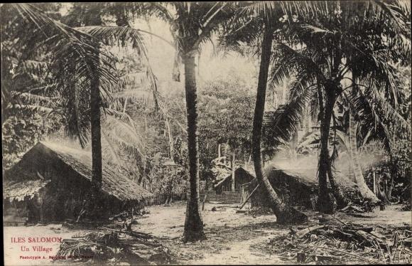 Ak Iles Salomon Salomon Inseln, Un village