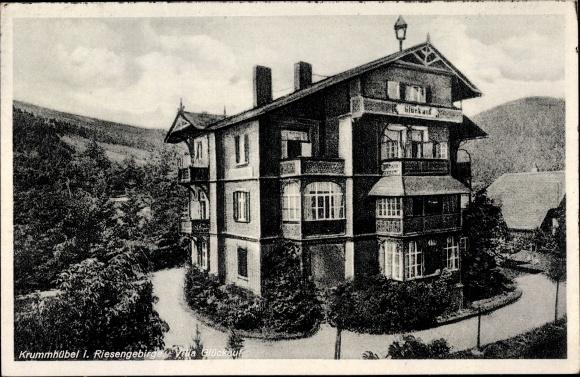 Ak Karpacz Krummhübel Riesengebirge Schlesien, Villa Glückauf