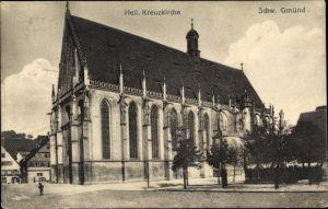 Ak Schwäbisch Gmünd im Ostalbkreis, Heiligkreuzkirche, Seitenansicht