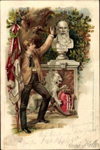 Präge Litho Turnvater Friedrich Ludwig Jahn, Büste, Turner