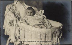 Ak Prinz Wilhelm von Preußen, der jüngste Hohenzoller, Portrait, Liersch 83