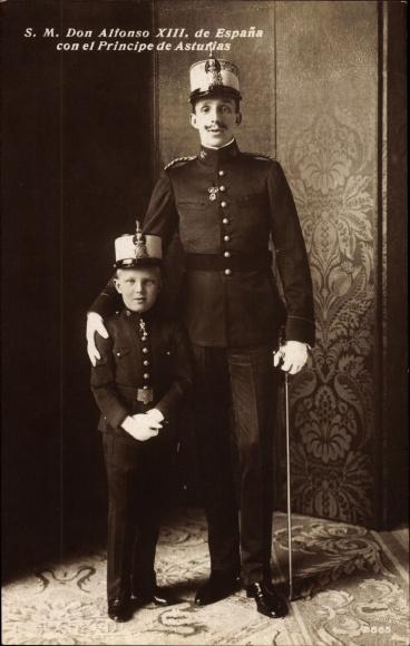 Ak König Alfons XIII. von Spanien, Alfons Pius de Borbón, Fürst von Asturien