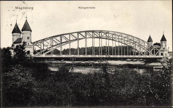 Ak Magdeburg an der Elbe, Königsbrücke
