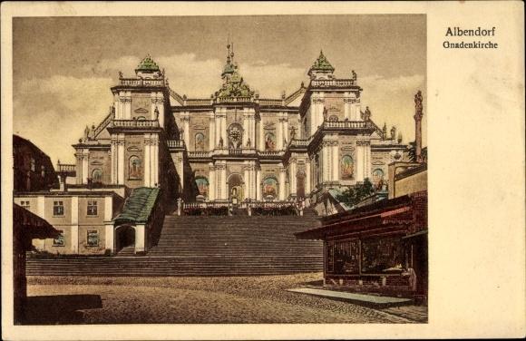 Ak Wambierzyce Albendorf Schlesien, Gnadenkirche, Aufgang