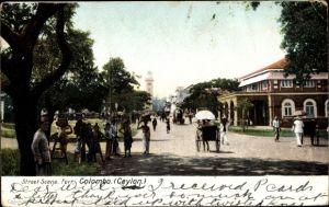 Ak Colombo Ceylon Sri Lanka, Street Scene, Fort