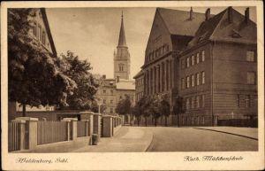 Ak Wałbrzych Waldenburg Schlesien, Kath. Mädchenschule
