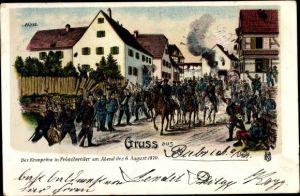 Litho Kronprinz in Fröschweiler am 06. August 1870