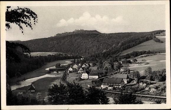 Ak Augustusburg im Erzgebirge, Totalansicht vom Ort