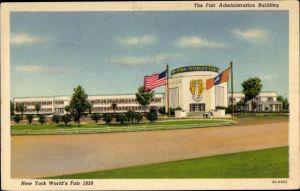 Ak New York City USA, New York World's Fair 1939, Fair Administration Building