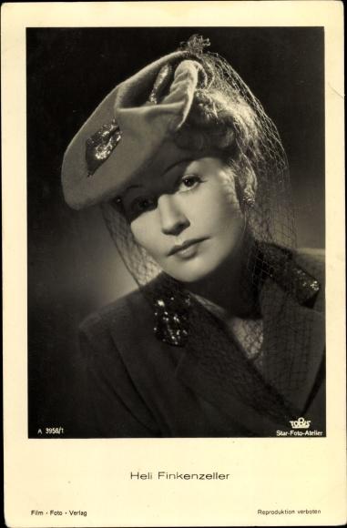 Ak Schauspielerin Heli Finkenzeller, Portrait, Hut, Tobis Film A 3958/1