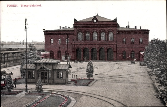 Ak Poznań Posen, Hauptbahnhof