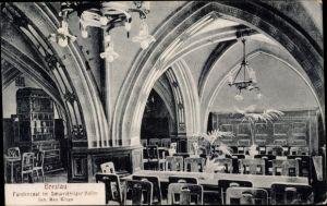Ak Wrocław Breslau Schlesien, Fürstensaal im Schweidnitzer Keller, Inh. Max Kluge