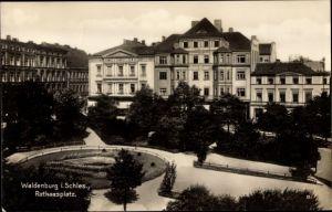 Ak Wałbrzych Waldenburg Schlesien, Rathausplatz