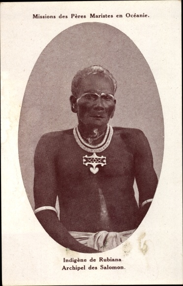 Ak Salomon Inseln, Missions des Pères Maristes en Océanie, Indigène
