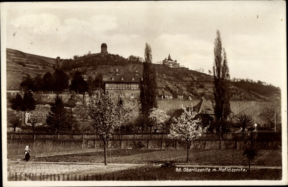 Ak Oberlößnitz Radebeul in Sachsen, Hoflößnitz, Panorama vom Ort