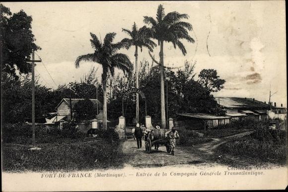 Ak Fort de France Martinique, Entrée de la Compagnie Générale Transatlantique