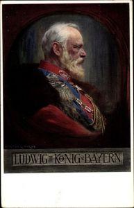 Künstler Ak Firle, Walther, Ludwig III, König von Bayern, Portrait