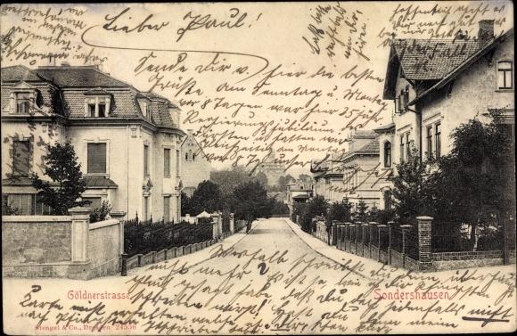 Ak Sondershausen im Kyffhäuserkreis Thüringen, Göldnerstraße